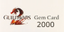 Guild Wars 2 Gems 2000 Game Card