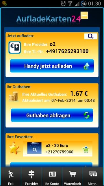 prepaid per paypal aufladen