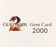 Guild Wars 2 Gems 2000 Game Card 25 EUR Prepaid Top Up PIN